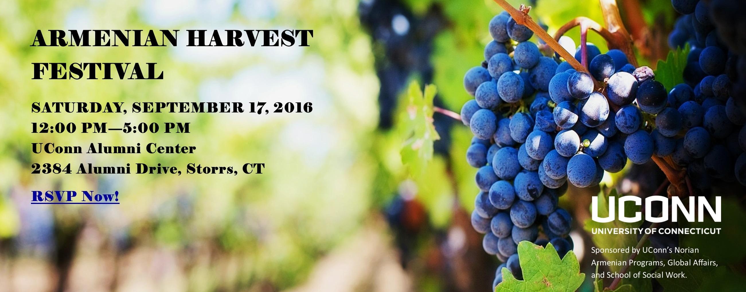 09.17.2016 Armenian Harvest Festival poster