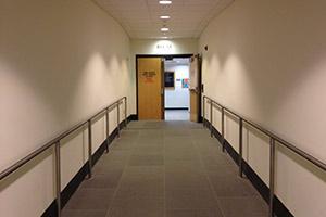 Hallway next to elevator