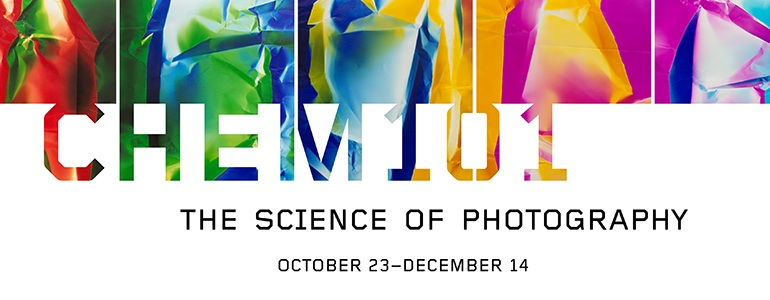 Website Banner drawn from work by Ellen Carey: Chem101 The Science of Photography Exhibition, October 23 - December 14