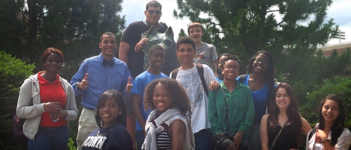 High school students on campus for the Summer Business Academy