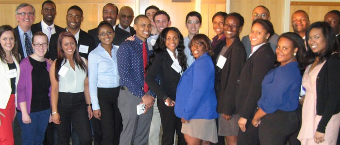 Undergraduates, faculty and staff at annual diversity awards and recognition reception