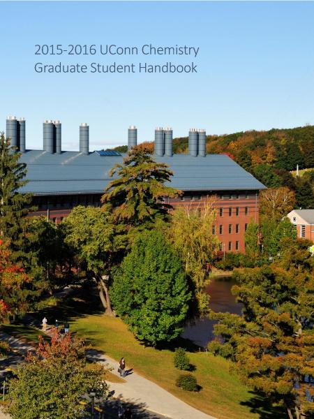2015-16 Chemistry Graduate Student Handbook