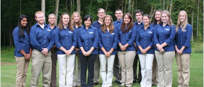 2009-2010 College Ambassadors with Dean Weidemann