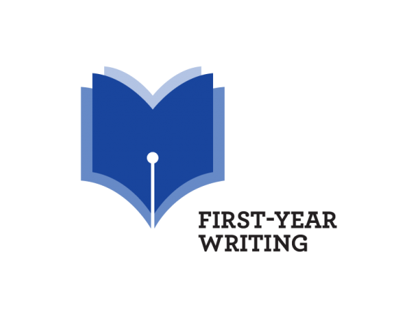 first-year writing program logo blue