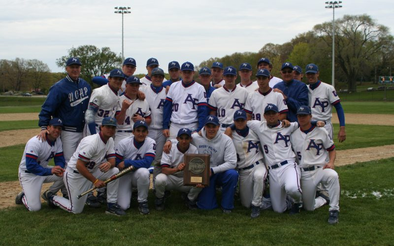 Group photo of Pointers, Avery Point's Baseball team