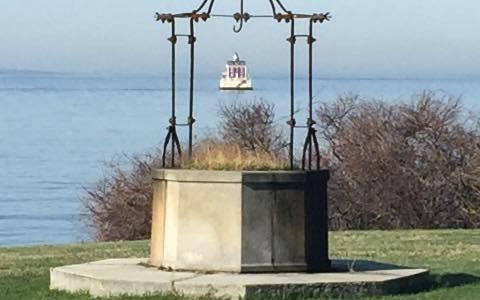 Photo of ledge light from Avery Point Campus
