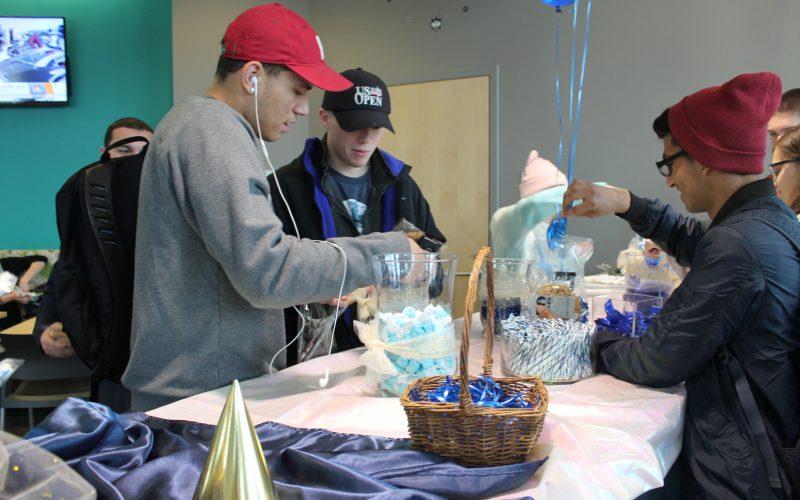 Avery Point students enjoying celebration treats