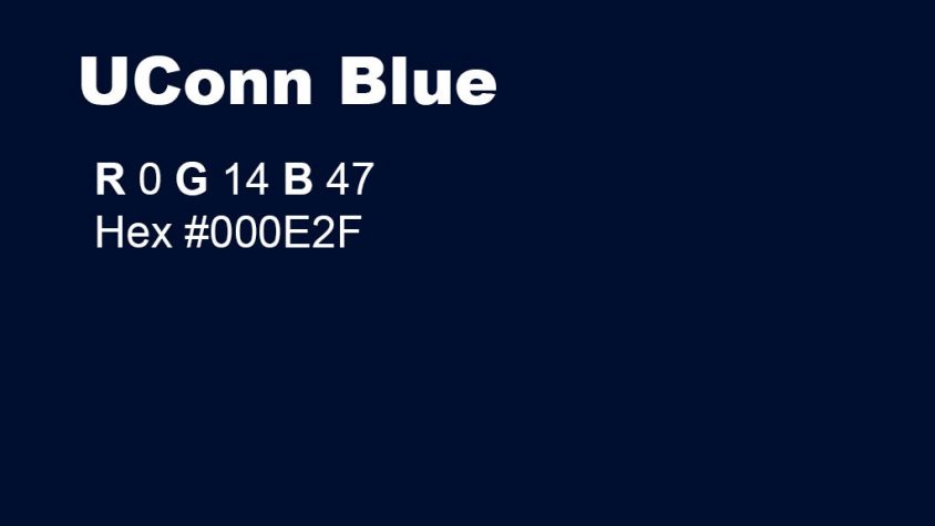 UConn Blue RGB and Hex Codes