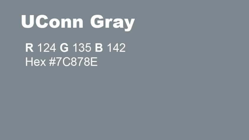 UConn Gray RGB and Hex Codes