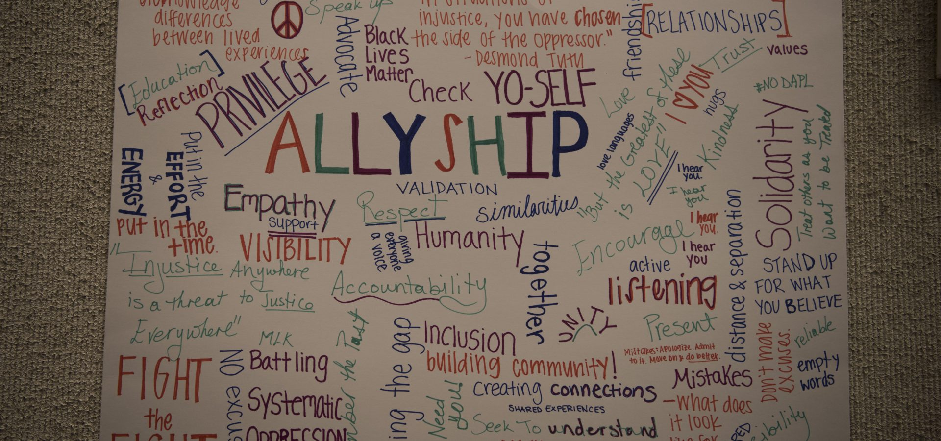 Allyship poster artwork