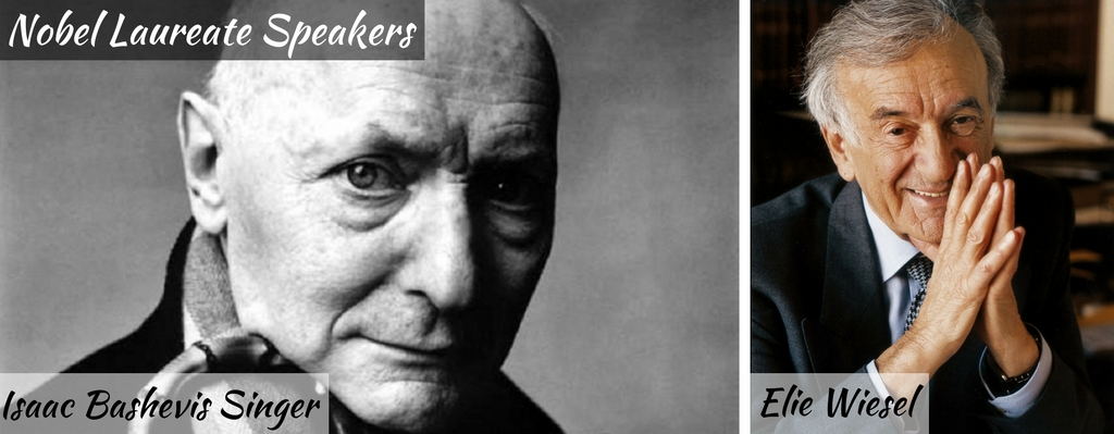 Isaac Bashevis Singer and Elie Wiesel