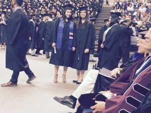 Kim Valerio at graduation