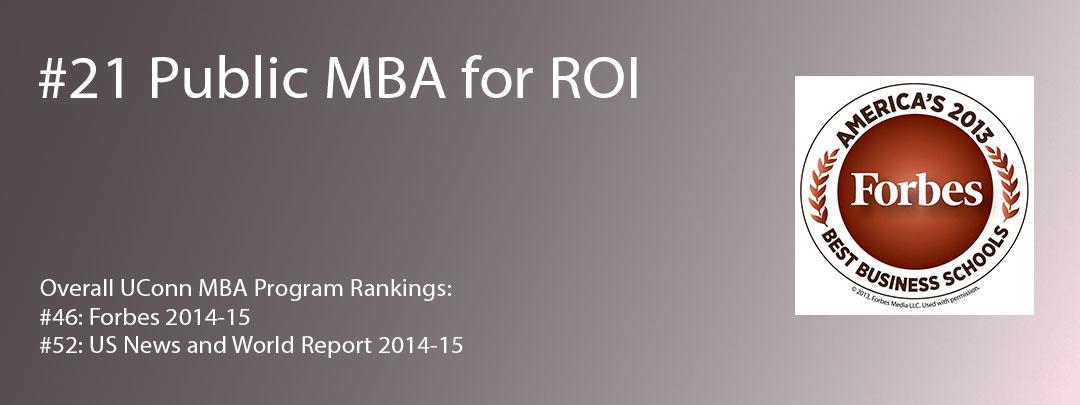UConn MBA ROI 21 Forbes