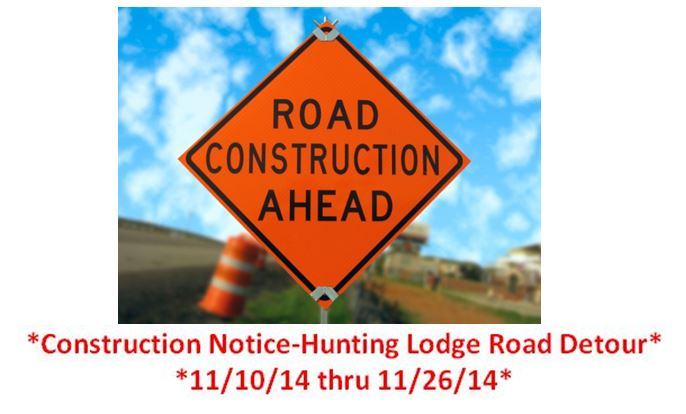 Hunting Lodge Road Detour