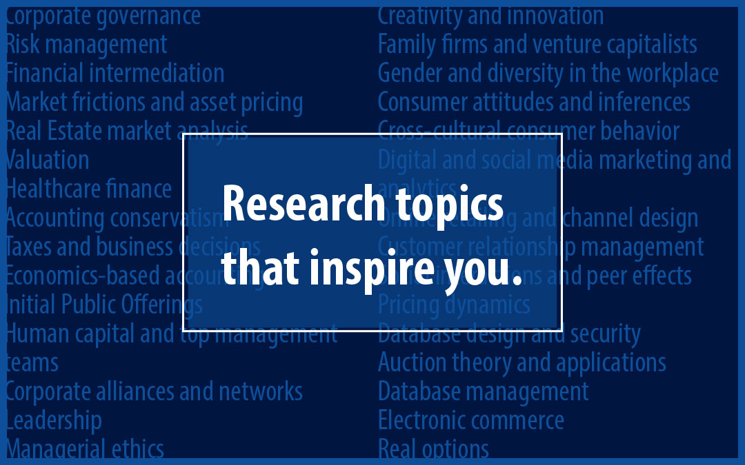 UConn Ph.D. - Research Topics That Interest You