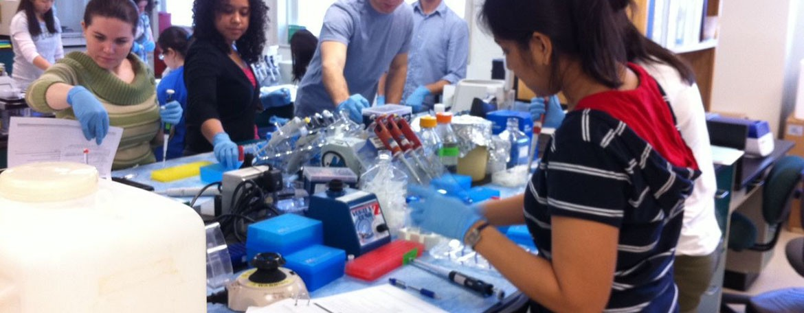 PSM students prepare samples during the PSM Amplicon Sequencing course