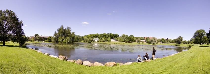 a view of Mirror Lake on the Storrs campus
