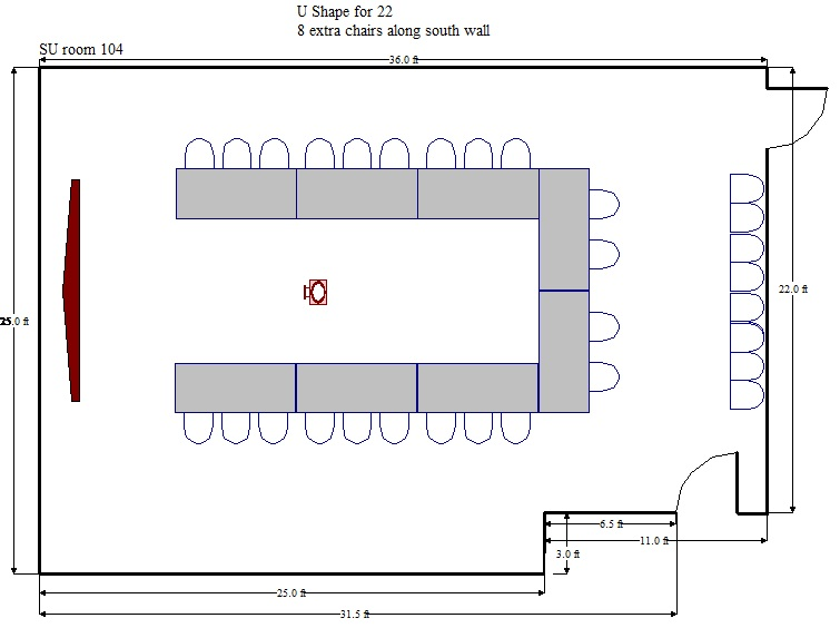 Conference Table Size Diagram Electrical Work Wiring Diagram - Conference table size for 12