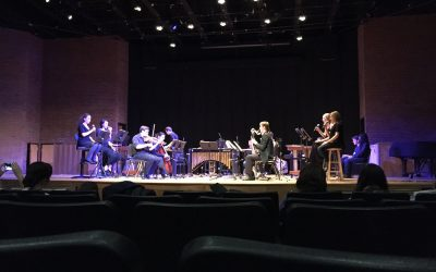 Photo of performance of Music for 18 Musicians