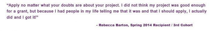 Rebecca Barton Quote