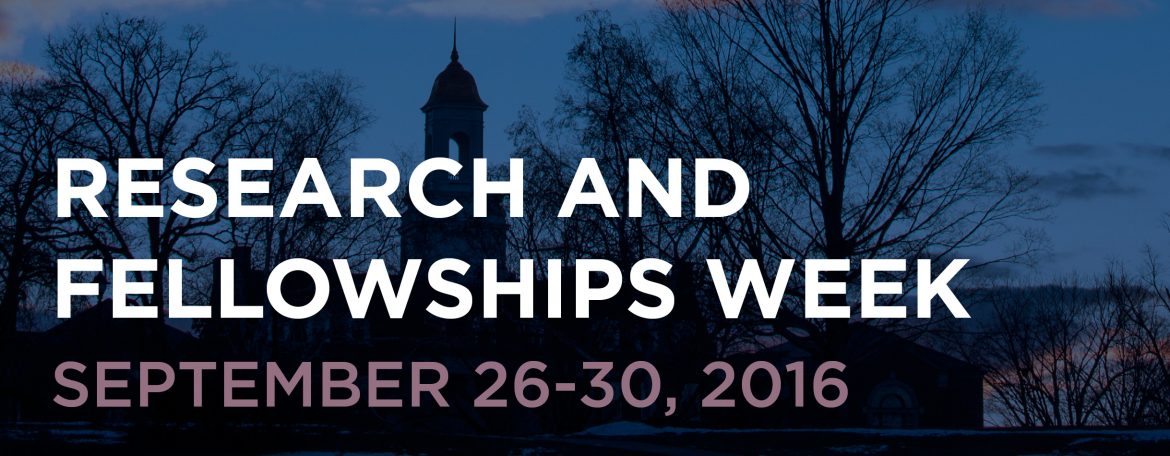 Research and Fellowships Week 2016