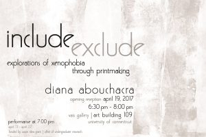 Include|Exclude exhibition poster