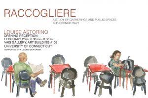 Raccogliere exhibition poster