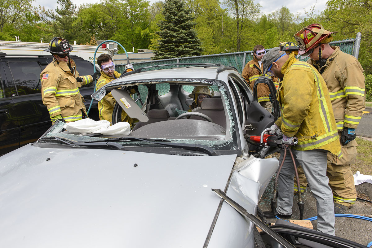UConn Health firefighters train medical students