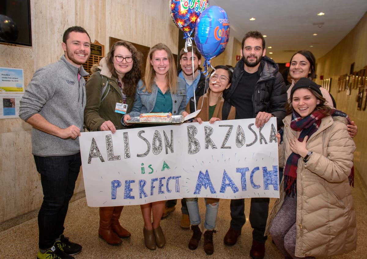 Match Day 2017 (Janine Gelineau/UConn Health Photo)