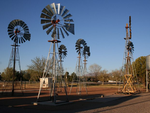 Windmills for groundwater pumping
