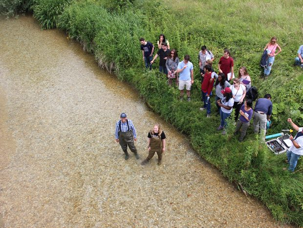 Stream Gauging in the Velino River, Italy