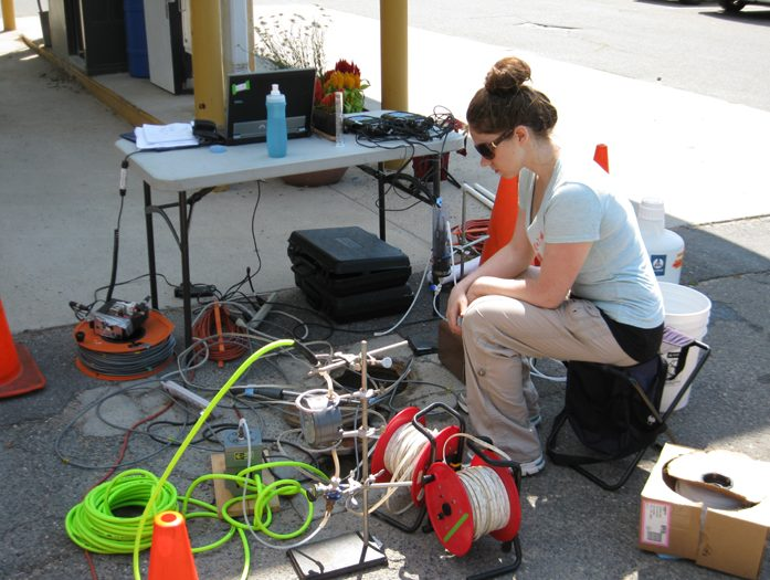 Conducting DO tests at the Motorpool Test Site